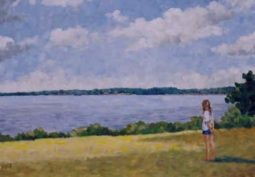 13girl_looking_at_lake_oil_on_canvas